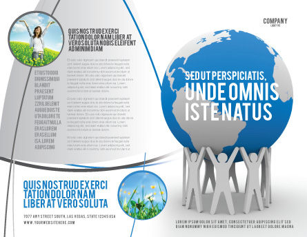 Save the World Brochure Template, Outer Page, 03868, Global — PoweredTemplate.com
