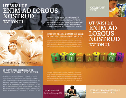 Visual Education Brochure Template, Outer Page, 03875, Education & Training — PoweredTemplate.com