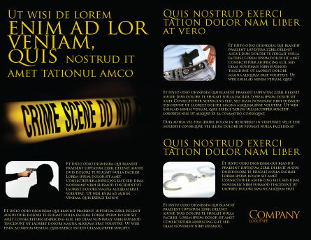 Crime Scene Brochure Template, Inner Page, 03883, Legal — PoweredTemplate.com