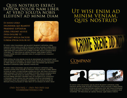 Crime Scene Brochure Template, Outer Page, 03883, Legal — PoweredTemplate.com