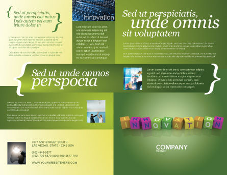 Innovation Cubes Brochure Template, Outer Page, 03888, Education & Training — PoweredTemplate.com