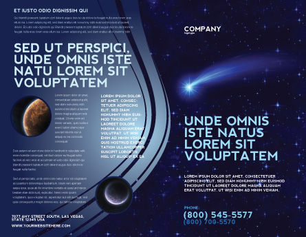 Fallen Star Brochure Template Outer Page