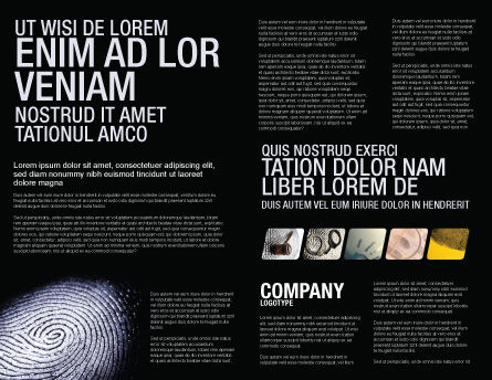 Fingerprint Brochure Template, Inner Page, 03890, People — PoweredTemplate.com