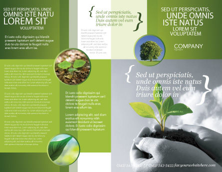 New Sprout Brochure Template, Outer Page, 03899, Nature & Environment — PoweredTemplate.com