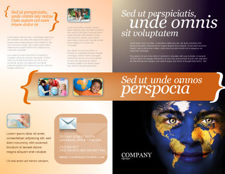 Childrens Of the World Brochure Template, Outer Page, 03901, Education & Training — PoweredTemplate.com