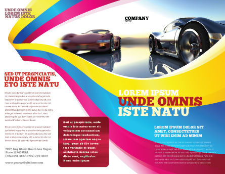Concept Cars Brochure Template Outer Page