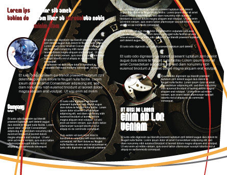 Bearing Brochure Template Inner Page
