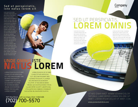Tennis Ball Brochure Template, Outer Page, 03918, Sports — PoweredTemplate.com