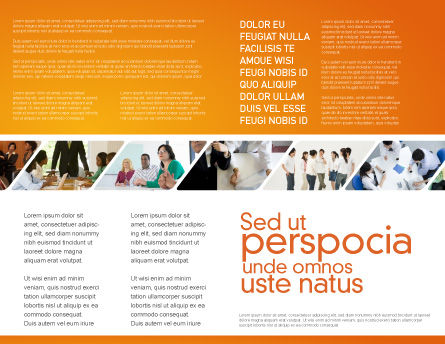 Talk Brochure Template, Inner Page, 03925, Consulting — PoweredTemplate.com