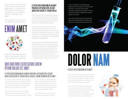 Industrial Chemistry Brochure Template, Inner Page, 03927, Technology, Science & Computers — PoweredTemplate.com