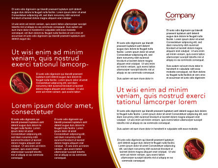 Blood Vascular System Brochure Template, Inner Page, 03930, Medical — PoweredTemplate.com