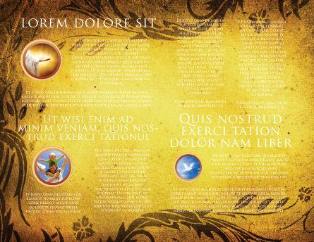 Christian Bible Brochure Template, Inner Page, 03936, Religious/Spiritual — PoweredTemplate.com