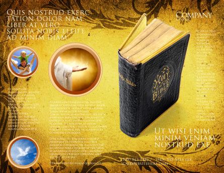 Christian Bible Brochure Template, Outer Page, 03936, Religious/Spiritual — PoweredTemplate.com