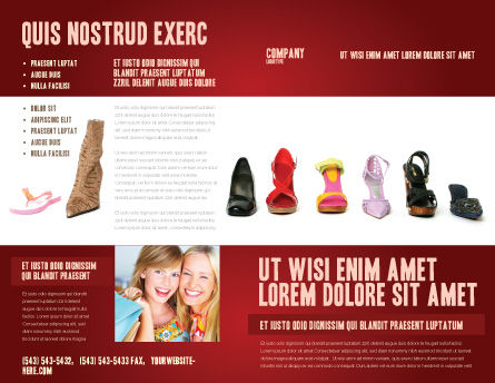 Lady's Shoes Brochure Template, Outer Page, 03937, Careers/Industry — PoweredTemplate.com