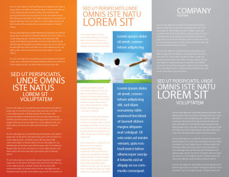 Work Motivation Brochure Template, Inner Page, 03938, Consulting — PoweredTemplate.com