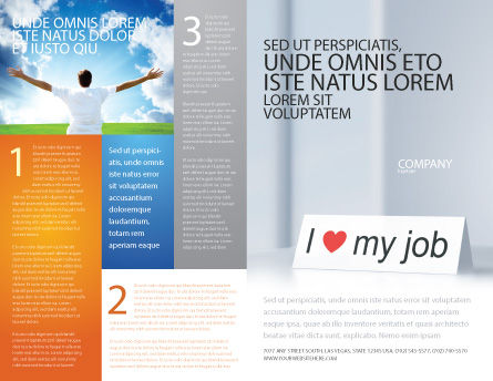 Work Motivation Brochure Template, Outer Page, 03938, Consulting — PoweredTemplate.com