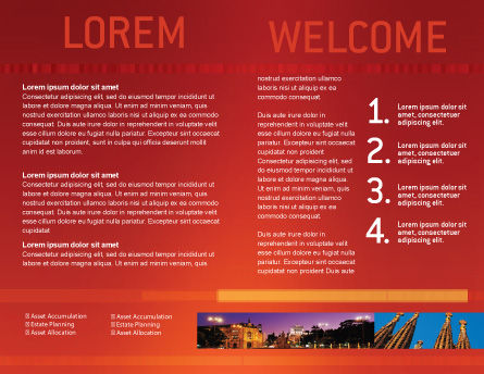 Flag of Spain Brochure Template Inner Page