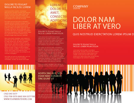 Sales Management Brochure Template, Outer Page, 03956, People — PoweredTemplate.com