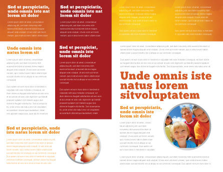 Eurosafe European Child Safety Alliance Brochure Template, Inner Page, 03960, Education & Training — PoweredTemplate.com