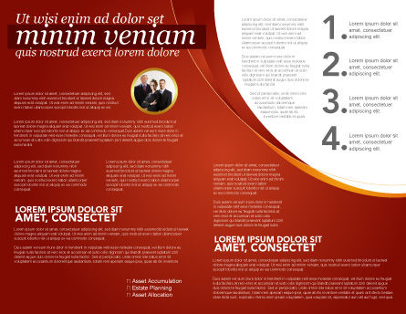 Plan Brochure Template, Inner Page, 03966, Consulting — PoweredTemplate.com