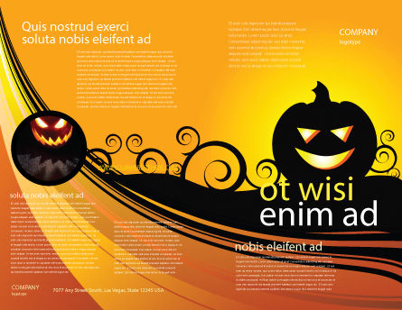Halloween is Near Brochure Template Outer Page