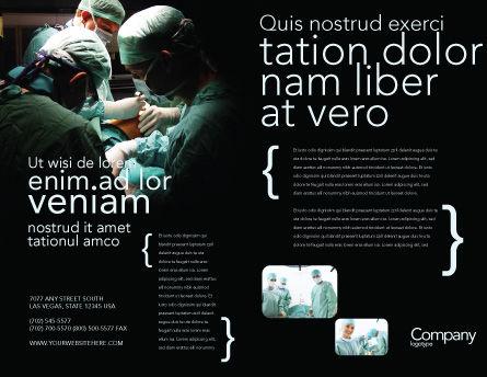 Major Surgery Brochure Template, Outer Page, 03979, Medical — PoweredTemplate.com
