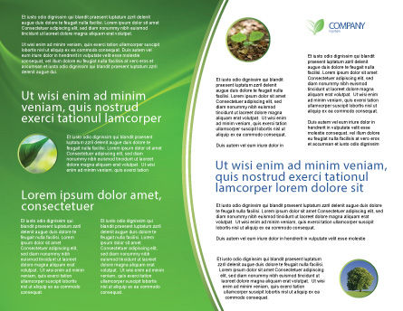 Blue Water Of A Green Planet Brochure Template, Inner Page, 03986, Nature & Environment — PoweredTemplate.com