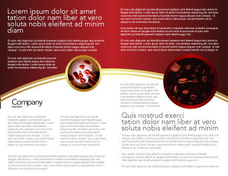 Blood Brochure Template Inner Page
