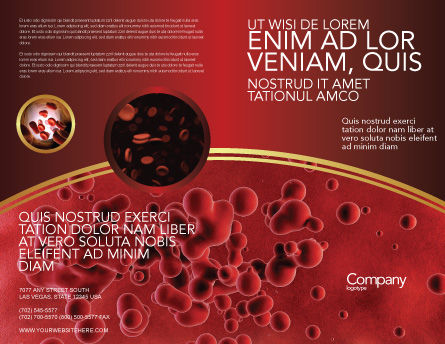 Blood Brochure Template Outer Page