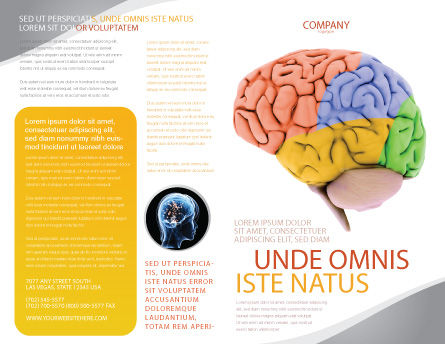 Cerebral Autoregulation Brochure Template, Outer Page, 03988, Medical — PoweredTemplate.com