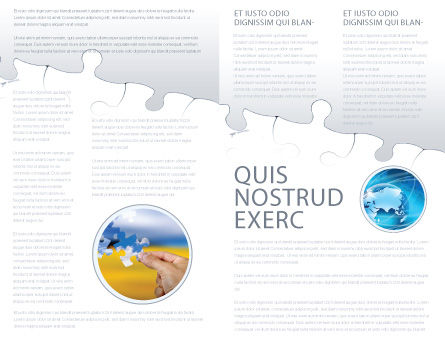 Map Fragments Brochure Template, Inner Page, 03989, Global — PoweredTemplate.com