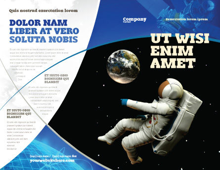 Cosmonaut Brochure Template, Outer Page, 03991, Technology, Science & Computers — PoweredTemplate.com