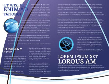 Communication Satellite Brochure Template, Inner Page, 03994, Telecommunication — PoweredTemplate.com