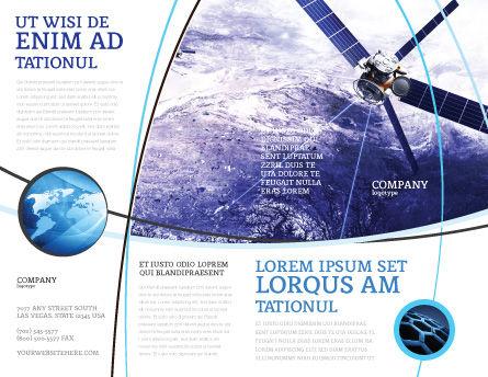 Communication Satellite Brochure Template, Outer Page, 03994, Telecommunication — PoweredTemplate.com