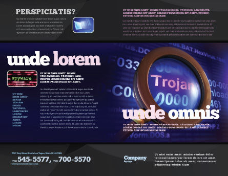 Computer Virus Brochure Template, Outer Page, 03997, Technology, Science & Computers — PoweredTemplate.com