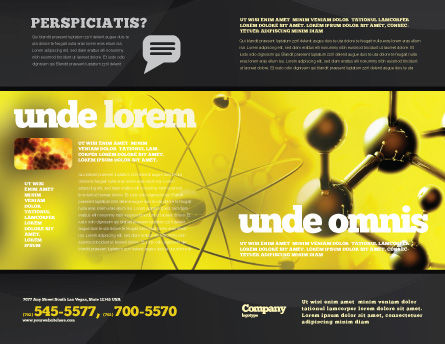 Molecular Lattice In Dark Yellow Colors Brochure Template, Outer Page, 04002, Technology, Science & Computers — PoweredTemplate.com
