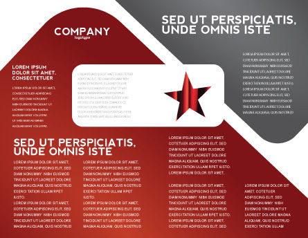 Walk of Fame Brochure Template, Inner Page, 04009, Careers/Industry — PoweredTemplate.com