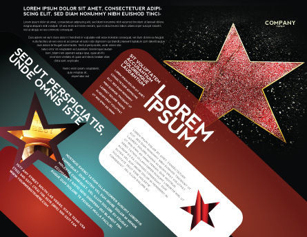 Walk of Fame Brochure Template, Outer Page, 04009, Careers/Industry — PoweredTemplate.com