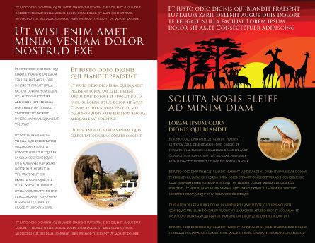 Savanna Sundown Brochure Template, Inner Page, 04012, Nature & Environment — PoweredTemplate.com
