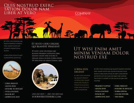 Savanna Sundown Brochure Template, Outer Page, 04012, Nature & Environment — PoweredTemplate.com