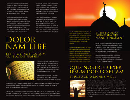 Mosques Brochure Template, Inner Page, 04019, Religious/Spiritual — PoweredTemplate.com