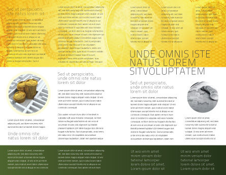 Dollar In Yellow Brochure Template, Inner Page, 04022, Financial/Accounting — PoweredTemplate.com