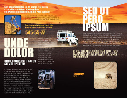 Extreme Expedition Brochure Template, Outer Page, 04023, Nature & Environment — PoweredTemplate.com