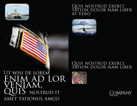 American Armed Forces Brochure Template, Inner Page, 04026, Military — PoweredTemplate.com