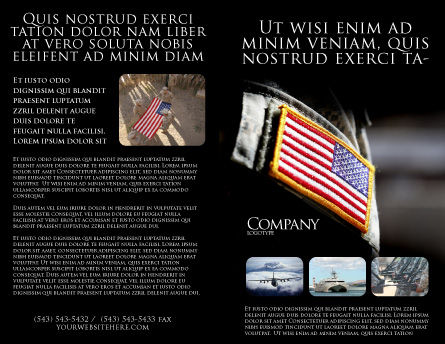 American Armed Forces Brochure Template, Outer Page, 04026, Military — PoweredTemplate.com