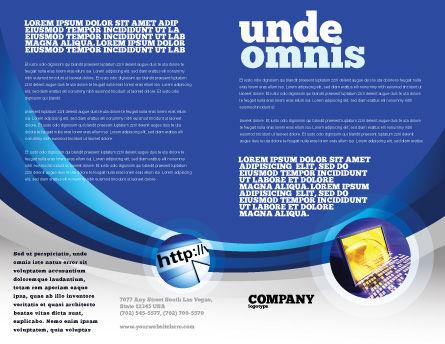 Communication Media Brochure Template, Inner Page, 04028, Global — PoweredTemplate.com