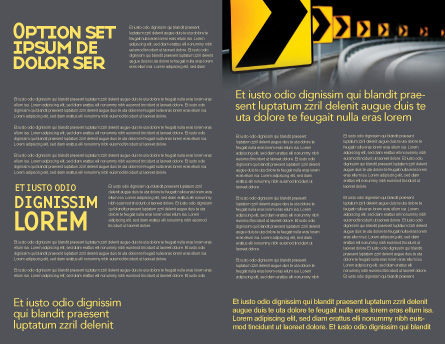 Road Reflector Brochure Template Inner Page
