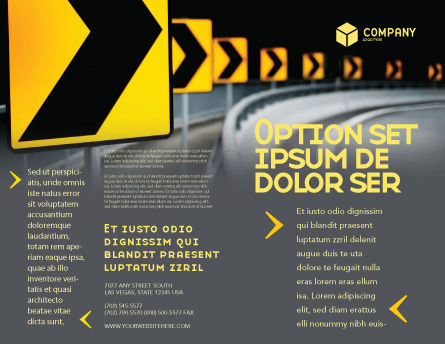 Road Reflector Brochure Template, Outer Page, 04032, Construction — PoweredTemplate.com