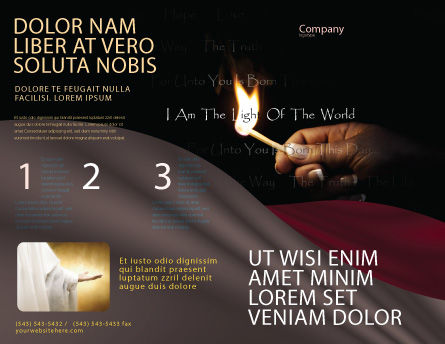 I Am The Light Of The World Brochure Template, Outer Page, 04034, Religious/Spiritual — PoweredTemplate.com