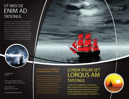 Scarlet Sails Brochure Template Outer Page